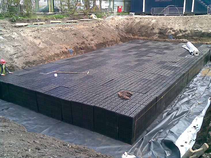 Stormwater  attenuation soakaways modules crates